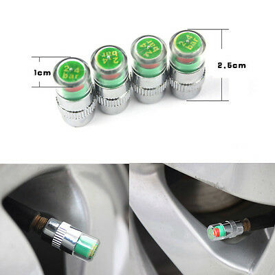 4pcs Motorcycle Pressure Monitor Tire Valve Stems Caps Covers Sensor For Electra