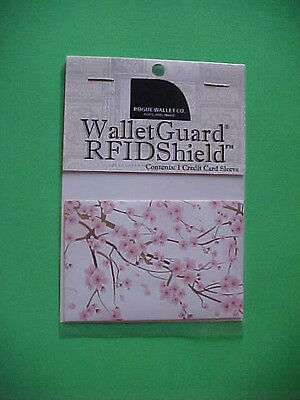 Rogue Credit Card Guard RFID  Protector Sleeve New Cherry Blossom Pattern