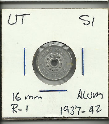 Utah Sales Tax token 1 emergency relieffund R-1 1937-42