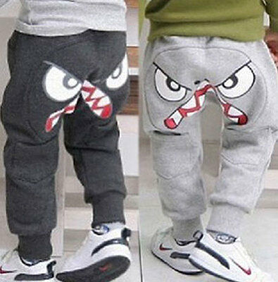 Boys Kids Girls Children Clothing Clothes Harem Pants Loose Trousers Size 3-7Y