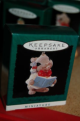 Hallmark 1995 Miniature Friendship Duet Mice Mouse Choir MINI Ornament