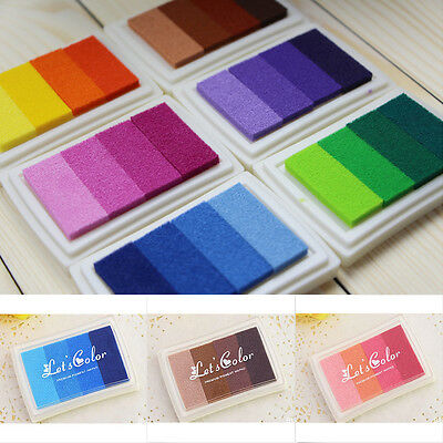 Ink Pad for Craft Rubber Stamps Paper/Wood/Fabric Oil Based Colors NEW