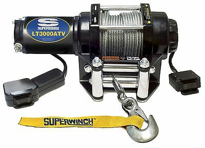 Superwinch 1130220 LT3000ATV 12 VDC Winch 3000 lbs w/ Mount Plate + More -- New
