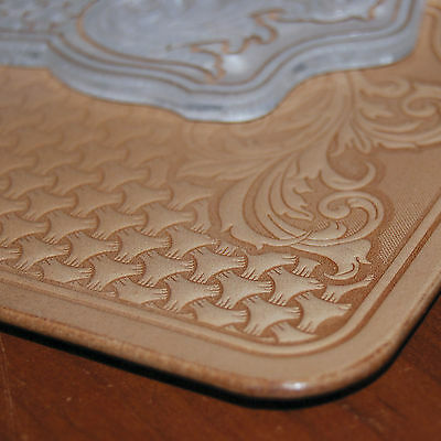 COOL SHERIDAN STYLE Leather Embossing Plate. For stamping VegTan Tooling Leather