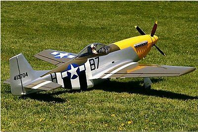 """Scale P51 Mustang  60""""  Giant Scale RC Model AIrplane Printed Plans"""