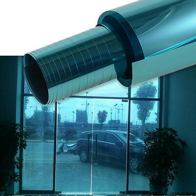 1x Plated Blue Auto Side Window Solar Film Tint 0.5Mx3M UV Explosion-proof Film