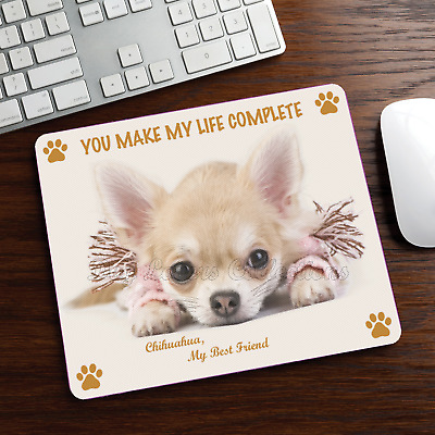 New Design Cute Adorable CHIHUAHUA Dog Puppy Rubber Computer MOUSE PAD Mat