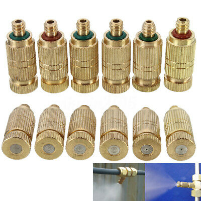 10Pcs 0.1-0.5mm Brass Misting Nozzles for Cooling System Humidification Sprayer