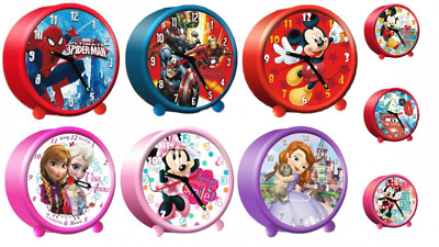 Wecker (analog) mit div. Disney Motiven: Mickey Mouse,Frozen,Cars,Spiderman,uvm.