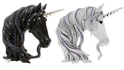 Jewelled Midnight or Magnificence Black or White Unicorn Head by Nemesis Now