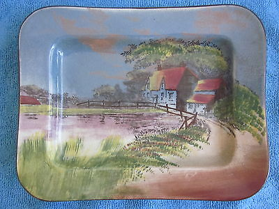 vintage 1920s ROYAL DOULTON  Serving Plate ENGLISH COTTAGES D4390