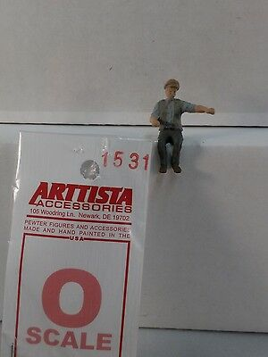 Arttista Early Engineer - #1531 - O Scale On30 On3 Figures People - Artista New