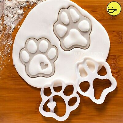 Dog Paw Prints cookie cutters paws cute dogs footprints realistic biscuit cutter