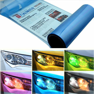 Light Blue Tint Vinyl Film Overlay Wrap Sheet For Headlight Fog Lights 12''x48''