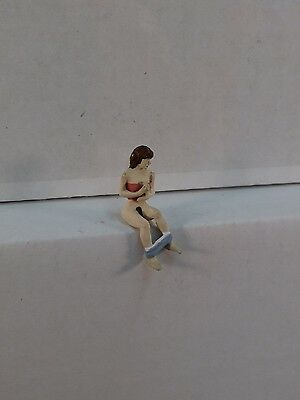 Arttista Female Occupant for Outhouse #1302- O Scale On30 On3 Figures People New