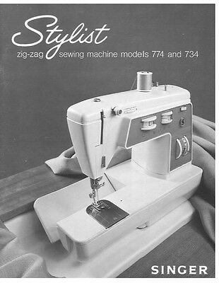 Singer 734-774 Sewing Machine/Embroidery/Serger Owners Manual