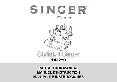 Singer 185-185J-185K Sewing Machine/Embroidery/Serger Owners Manual Reprint