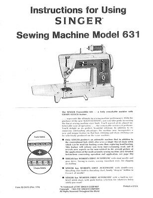 Singer 331K1-331K4 Sewing Machine//Embroidery//Serger Owners Manual Reprint