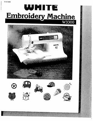 white w3300 embroidery sewing machine embroidery serger owners rh picclick com
