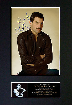 FREDDIE MERCURY of Queen Quality Autograph Signed Photo Print (A4) No65