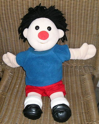 "Vintage 1995 BIG COMFY COUCH 17"" Plush Rag Doll Blue Shirt Red Shorts"