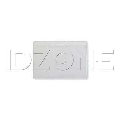 Qty. 100 - NEW Horizontal Clear Vinyl Badge Holder - 304-T1H