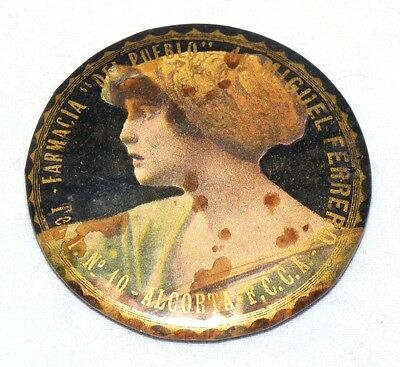 Antique Celluloid Advertising Pocket Mirror .visit My Store. I Have More Listed