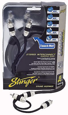 Brand New Stinger RCA Interconnect Cable 3 Feet 8000 Series 2-Channel SI823