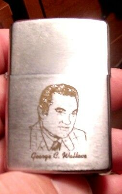 Rare 1973 Signed Governor GEORGE C.WALLACE Alabama Zippo Lighter