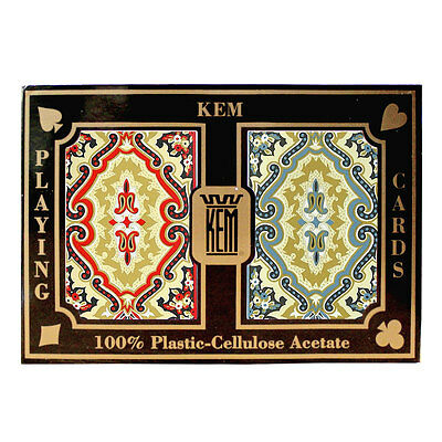 100% plastic acetate KEM PAISLEY Bridge/Regular playing cards -2 decks