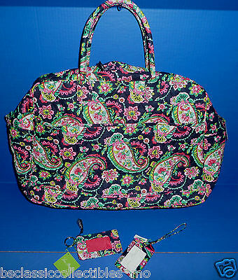 Vera Bradley Grand Traveler In Petal Paisley + Zip ID & Luggage Tag (Non-Retail)