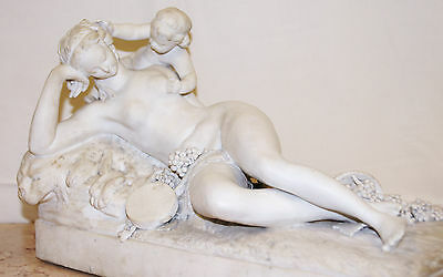 Antique Bisque White Porcelain Figure of a Female Reclining Nude late 19th/E20th