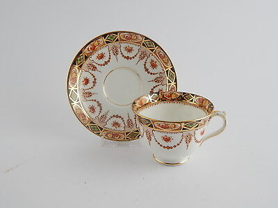 "Royal Albert Crown China ""devon"" Antica Tazza Da Te' Con Piattino Del 1925"