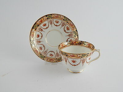 "Royal Albert Crown China ""devon"" Antica Tazza Te' Con Piattino 1925 Cup Saucer"