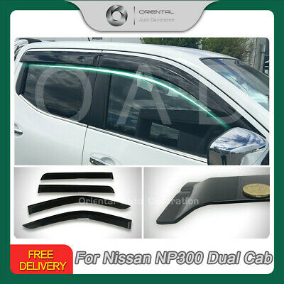 NEW Premium Weathershields Weather Shields Window Visors for Nissan NP300 NEW