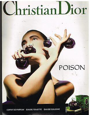 Publicité Advertising 1989 Parfum Eau de Toilette Poison par Christian Dior