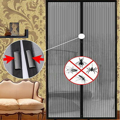 OE Mesh Insect Fly Bug Mosquito Door Curtain Net Netting Mesh Screen Magnets