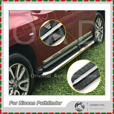 Black Aluminum Side Steps/Running Board For Nissan Pathfinder R52 14-17 (CYZ)