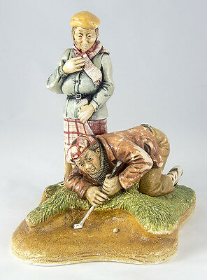 Clay golfing figure by Naturecraft Congleton (England)