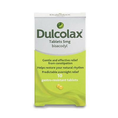 ** Dulcolax 5Mg Gastro Resistant 10 X Tablets Relief From Constipation New **
