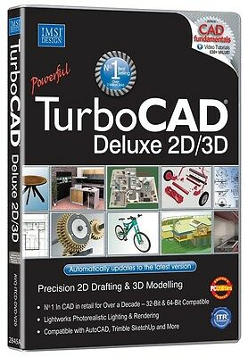 Turbocad 20 Deluxe 2D 3D Pc Dvd-Rom Software  Brand New And Sealed