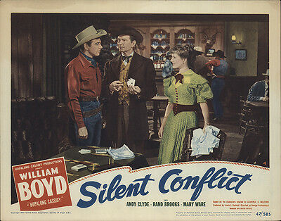 Silent Conflict 1947 Original Movie Poster Action Adventure Western