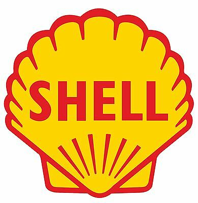 SHELL Gasoline gas oil pump vinyl cut sticker decal 12""