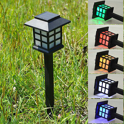 New Solar Power LED Yard Lawn Light Party Path Outdoor Spotlight Garden Lamp