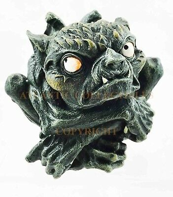 """Small Troll Frog Toad Gargoyle Statue 3.75""""L Figurine Resin Collectible Guardian"""