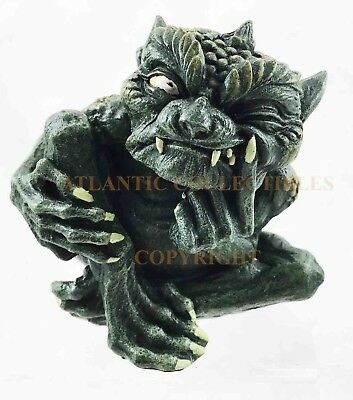 """Small Troll Winged Toad Gargoyle Statue 4""""L Figurine Resin Collectible Guardian"""