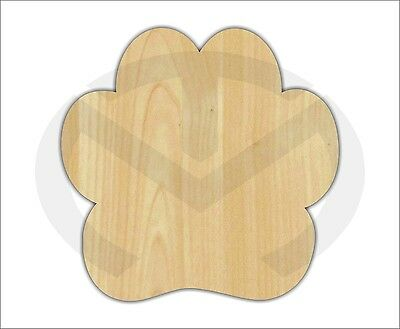 Unfinished Wood Paw Print Laser Cutout, Wreath Accent, Door Hanger, Paint Ready