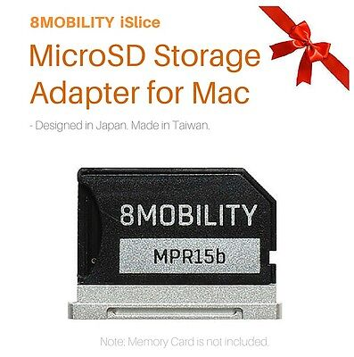 "MicroSD Memory Card TF Adapter for A1398 MacBook Pro Retina 15"" 8MOBILITY iSlice"