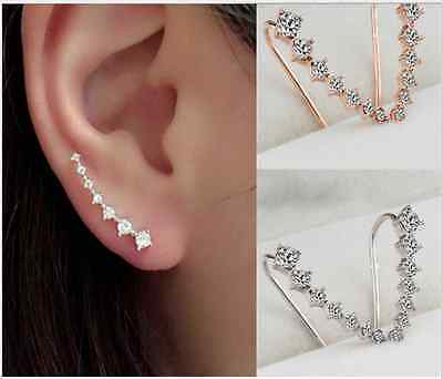 New Hot Charm Earring Fashion Jewelry Crystal Diamante Gold Silver Stud Earrings