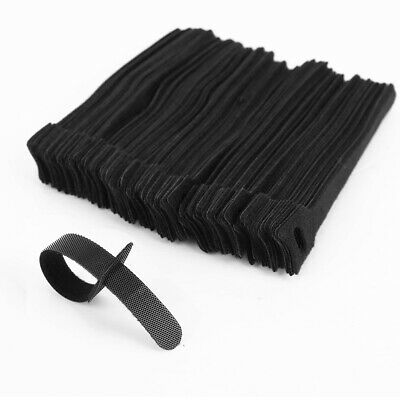 100pcs Organizador de cable Tiras flexible Color Negro Reusable Nylon Cable Ties